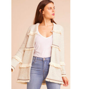 Jack | By BB Dakota Fringe Knit Jacket